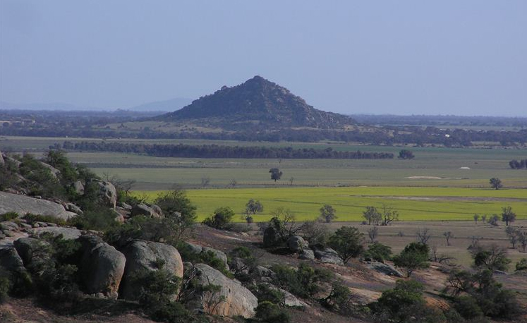 Pyramid Hill - looking from Mt Hope