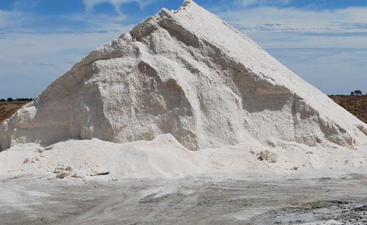 A salt pyramid at the Pyramid Hill Salt Works
