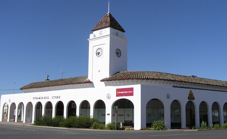 The Pyramid Hill Store Shopping Centre, a town landmark